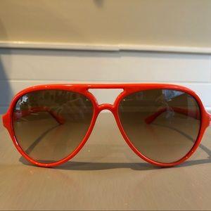 Orange Ray Ban Cats 5000 Original Sunglasses